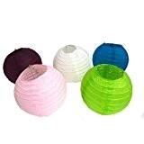 PK Vert chinois lanterne en papier–Lot de 4/Taille 2/Plusieurs couleurs, blanc, Taille L