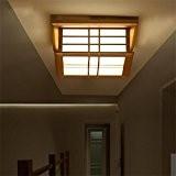 Plafond en bois de style japonais lampe de salon lampe de chambre à coucher lumières d'allée lumières de corridor lumières ...