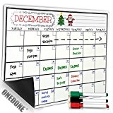 Planificateur mensuel magnétique, tableau blanc de frigo, menu de planification, effaçage à sec, utilisé comme calendrier, dans la boucherie, l'épicerie, ...
