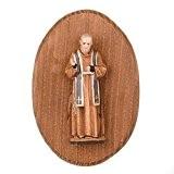 Plaque avec statue de Padre pio
