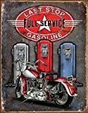 Plaque métal - Last stop Full service gasoline