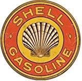 Plaque métal Shell - Gasoline 1920's