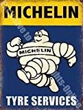 Pneu MICHELIN Man Services voiture Garage Vintage Panneau mural en métal/acier, Acier, 15 x 20 cm