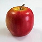 Pomme artificielle, rouge-jaune, Ø 8 cm - Fruit en plastique / Pomme décorative - artplants