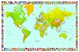 Poster XXL Giant Art® Map of the World photo, photo murale, poster, grand format, 175x115cm, mappemonde, carte, monde, politique, pays, ...
