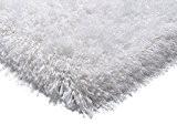 Poudre blanche shaggy Shaggy de Canvey tapis 200x300