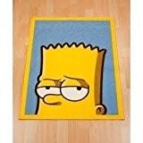Pour Enfant Garçon Bart Simpson pour enfant/chambre/Tapis de sol, bleu, 65cm x 90cm