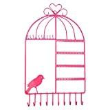 Présentoirs, Finer Shop Armoire à Bijoux Murale Forme de Cage d'Oiseaux Moderne en Métal Appliquée Jeune Femme Esthète
