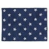 PROMOTION - Tapis de sol enfant 120x160 cm marine étoiles blanches