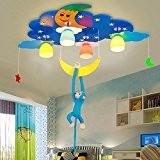 Protection contre les yeux LED lumières pour enfants Lumières de chambre à coucher bébé Carré créatif pour garçon Plafonnier de ...