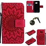 PU Coque Pour Samsung Galaxy A3 (2017) , Multifonction Case Wallet Cover Etui en cuir Étui de protection flip Wallet ...