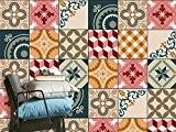 PVC Autocollant adhésif - Stickers carrelage | Décalque de mur - recouvrir carreau ciment de cuisine et salle de bain ...
