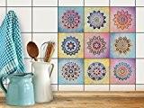 PVC Autocollant Stickers Oriental | Revêtement mural adhésif pour Carrelage Salle de Bain - Décorer faience cuisine | Décalque de ...