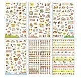 Qingsun 6/30/60 pcs DIY Autocollant Adhésif Scrapbooking Décoratif Artisanal Album Journal, couleurs assorties