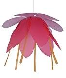 R&M Coudert Lampe de Plafond Suspension Chambre Enfant Fleur Lilas et Fuchsia