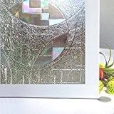 Rabbitgoo® Film Adhésif pour Fenêtre Film Occultant Protège Intimité 60cm × 200cm Film de Vitre Repositionnable Statique Anti-UV 3D Décoratif ...