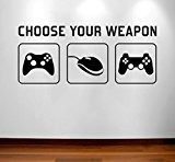 RaDecal CHOOSE YOUR WEAPON | Video Game Gaming Vinyl Decal Wall Sticker Mural - Kids Children Boys Teenager Teens Bedroom, ...
