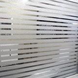 RAIN QUEEN 1 Rouleau /45cm X 200cm Film Occultant Décoratif Pour Surface Fenêtre Vitrage Vitre Autocollant Imprimé Imperméable (Mat Rayure ...
