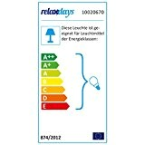 Relaxdays Lampe de table rectangle verre opale lampe de chevet lampe d'ambiance HxlxP: 25,5 x 12 x 12 cm lampe ...