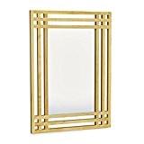 Relaxdays Miroir en bois de pin fixation murale salle de bain couloir salon à suspendre avec cadre en bois H ...