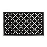 Relaxdays Paillasson en caoutchouc antidérapant tapis de sol porte entrée avec motif grille résistant aux intempéries L x l 75 ...