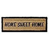 Relaxdays Paillasson en fibres de coco Tapis de sol porte entrée HOME SWEET HOME rectangulaire 25 x 75 cm essuie-pieds ...
