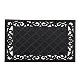Relaxdays Paillasson L x l 75 x 45 cm tapis de sol antidérapant en caoutchouc rectangle résistant aux intempéries motifs ...