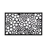 Relaxdays Paillasson tapis de sol antidérapant en caoutchouc motifs fleurs résistant porte entrée garage couloir extérieur L x l 75 ...