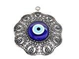 Remi Bijou Décorationporte-bonheur avec ronds et nœud représentant le Nazar Boncuk (œil bleu)