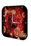 RÈtro Horloge murale Astrologique DÈco Marke Taureau Paroi Imprimee Plexiglas 25x25 cm