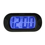 Réveil Matin Digital en Silicone Silencieux avec LED Lumineux Horloge NumériqueAlarm Clock Résistance,Grand Ecran,Fonction Snooze, Affichage Gigantesque Pour Voyage/Parents/Enfants-Noir
