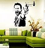 Rick sticker mural motif the walking dead, Vinyle, noir, Medium