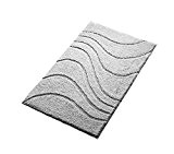 Ridder 7294070-350 La Ola Tapis de Bain Microfibre Polyester Gris 70 x 120 cm