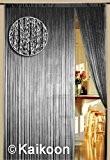 Rideau à fils 150cm x 300cm Argent Brillant (BxH)
