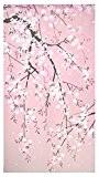 RIDEAU dE pORTE pORTIERE noren de cerisier sakura japonais rose