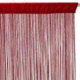 Rideau fil (largeur 90 cm) Rouge