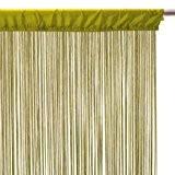 Rideau fil (largeur 90 cm) Vert anis