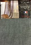 Rideau Voilage LIN Gris Fonçé LINDER , Ruban Passe Tringle invisible (GRANDE HAUTEUR) 145 x 300cm