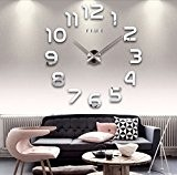 Rightvp Moderne bricolage 3D Frameless Grande Horloge Murale Montres style Hour Chambre Accueil décorations, numérique 3D acrylique créative Autocollant Mural ...