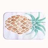 rioengnakg Ananas Imprimé tapis de bain Corail en polaire Zone Tapis de porte d'entrée Tapis Tapis Tapis de sol pour ...