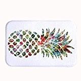 rioengnakg mignon Ananas Art Tapis de bain Corail en polaire Zone Tapis de porte d'entrée Tapis Tapis Tapis de sol ...