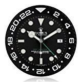 Rolex Wall Clock Gmt-Master Lumineuse Coque Noire Horloge Calendrier