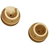 Rolls - Lot de 2 anneaux en naissance pour tringle à rideaux Woodline 35 mm - en bois - chêne ...
