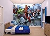 Room Studio 43848 Fresque Murale Avengers 12 Lés Plastique Vert 305 x 0,1 x 243 cm
