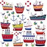 RoomMates Stickers muraux repositionnables Enfant Navires et bateaux