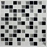 Roommates TL3227FLT Carrelage Mural Adhésif Mosaique Noir et Blanc Facile à Poser Sticktiles (4 Pièces 26,7x26,7cm) Vinyle Multicolore 26,7x26,7 cm