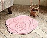 Rose Fleur forme Tapis Superfine Fiber Douche Bain Chambre Cuisine, 50*50CM