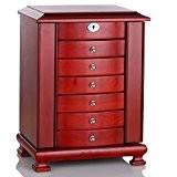 Rowling Boîte à bijoux en bois Coffret/Mallette à Bijoux Cerise Boîte à Maquillage MG010