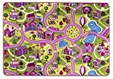 Rue Tapis de jeu/Tapis Sugar Town, rose, rose, certifié Öko-Tex, doux, Polyamide, Pink, Rosa, 95x200cm