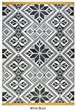 rugs2clear fabriqué à la main Noir et Blanc Croix cousue en laine Westbourne Tapis (9x 6pieds), 1Pièces